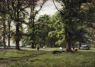 Livestock Painting - The Elm Walk by William Grylls Addison