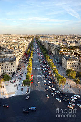 Arc De Triomphe Photograph - The Elysian Fields by Michal Bednarek