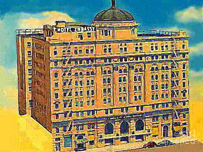 Painting - The Embassy Hotel In Downtown Los Angeles Ca Around 1940 by Dwight Goss