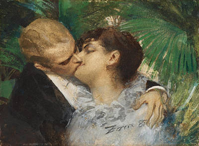 Zorn Painting - The Embrace by Anders Zorn