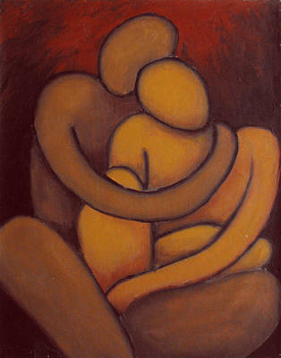 Puerto Rico Painting - The Embrace by Estefan Gargost