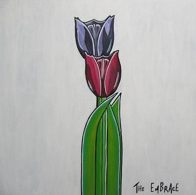 The Embrace Art Print by Sandra Marie Adams