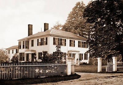 The Emerson House, Concord, Emerson House Concord Art Print by Litz Collection