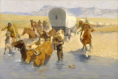 Digital Art - The Emigrants by Frederic Remington