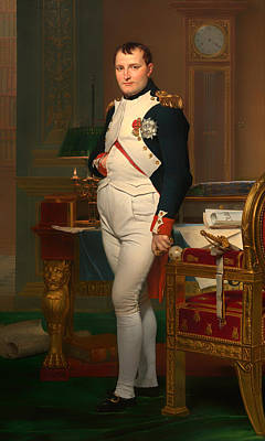 Concept Painting - The Emperor Napoleon In His Study 1812 by Mountain Dreams
