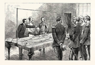 The Emperor Of Germany Inspecting The New English War Game Art Print by German School