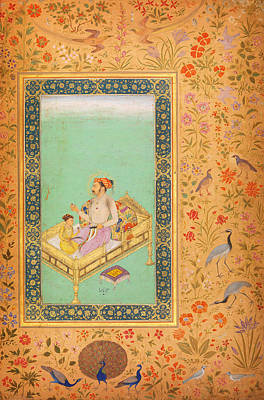 Rumi Painting - The Emperor Shah Jaha by Celestial Images