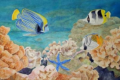 Anglefishes Painting - The Emperors Arrival by Kathleen Rutten