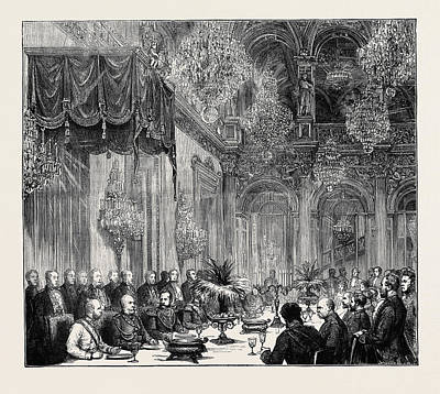 The Emperors At Berlin Banquet To The Emperors In The White Art Print