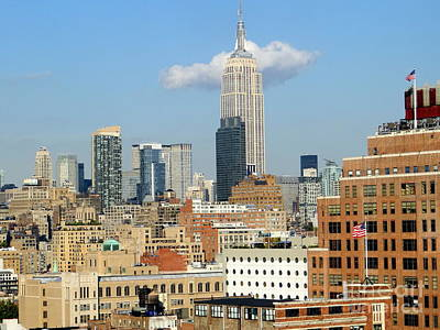 Photograph - The Empire State Building by Ed Weidman