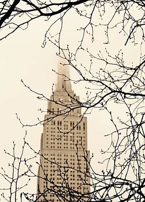 Photograph - The Empire State Building On A Foggy Afternoon by Sarah Loft