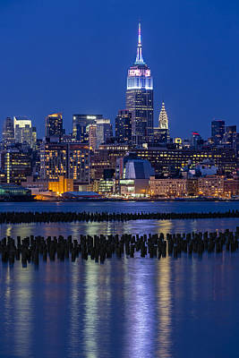 Photograph - The Empire State Building Pastels Esb by Susan Candelario