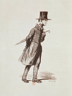 Cravat Photograph - The Employee, From Les Francais Peints Par Eux-memes, Engraved By Guillaumot, Paris, C.1850 by Paul Gavarni