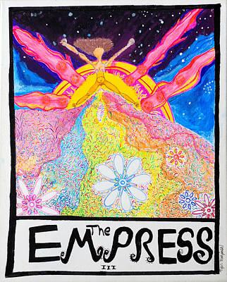 Tarot Painting - The Empress by Tyler Rudzinski
