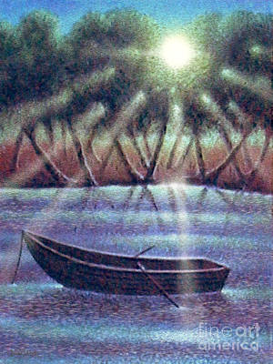 Digital Art - The Empty Boat by Cristophers Dream Artistry