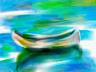 Rowboat Digital Art - The Empty Boat by Frank Bright