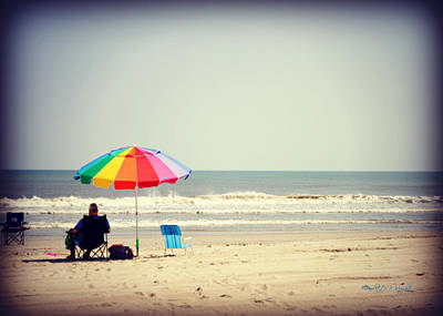 Photograph - The Empty Chair Spotted On Vacation by Paulette B Wright