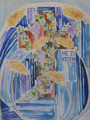Cross Painting - The Empty Cross by Rachael Pragnell