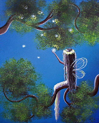Fairy Artists Painting - The Enchanted By Shawna Erback by Shawna Erback