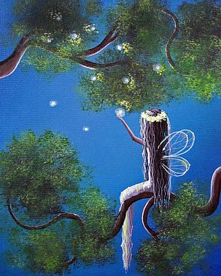 Night Angel Painting - The Enchanted By Shawna Erback by Shawna Erback