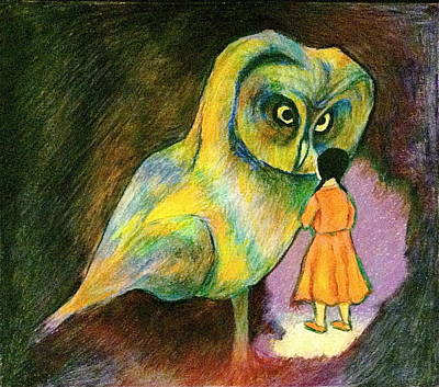 Storybook Drawing - The Encounter by Rachel Elise