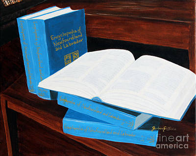 Barbara Griffin Art Painting - The Encyclopedia Of Newfoundland And Labrador - Joeys Books by Barbara Griffin