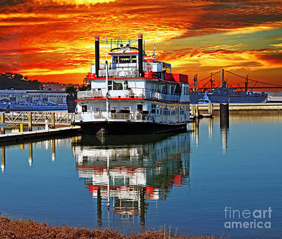 Digital Art - The End Of A Beautiful Day In The San Francisco Bay by Jim Fitzpatrick
