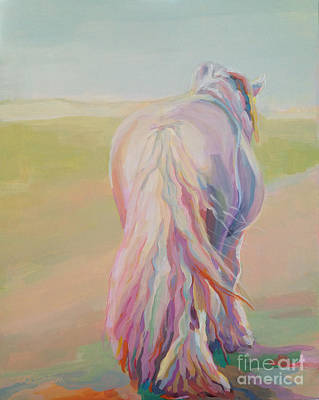 Horse Pastels Painting - The End Of The Day by Kimberly Santini
