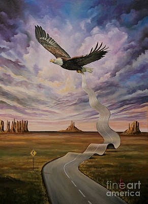 American Eagle Painting - The End Of The Road by Svetoslav Stoyanov