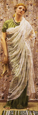 Silk Painting - The End Of The Story by Albert Joseph Moore