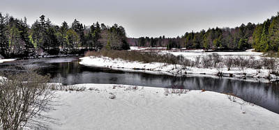 Mountains Photograph - The End Of Winter On The Moose River by David Patterson