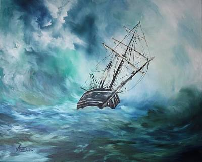 Solid Painting - The Endurance At Sea by Jean Walker