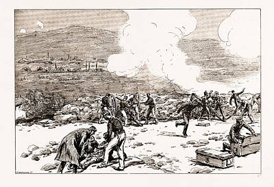 Good Practices Drawing - The Engagement At Mati Greek Artillery Making Good Practice by Litz Collection