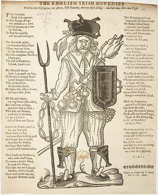 The English Irish Soldier Art Print by British Library