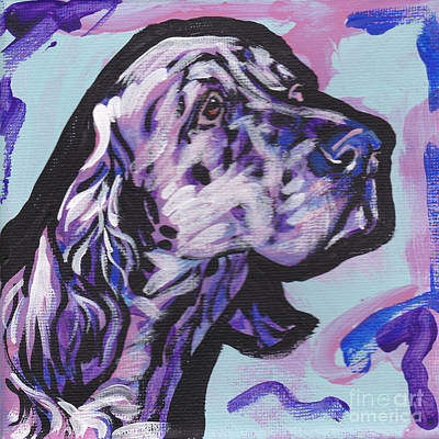 English Setter Painting - The English by Lea S