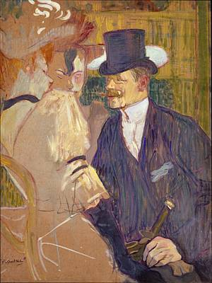 Cardboard Painting - The Englishman William Tom Warrener by Henri de Toulouse-Lautrec