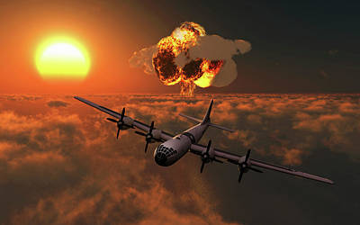 The Enola Gay B-29 Superfortres Nuclear Art Print