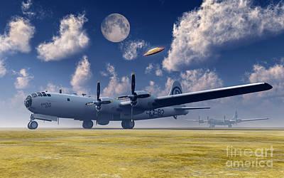 Superfortress Digital Art - The Enola Gay B-29 Superfortress by Mark Stevenson