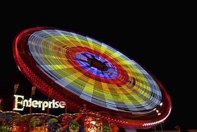 The Enterprise Amusement Park Ride Art Print by Deb Fruscella