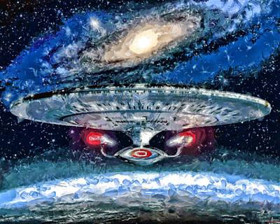 The Enterprise Art Print by Joe Misrasi