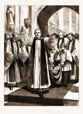 Primate Drawing - The Enthronement Of The New Primate In Canterbury Cathedral by Litz Collection