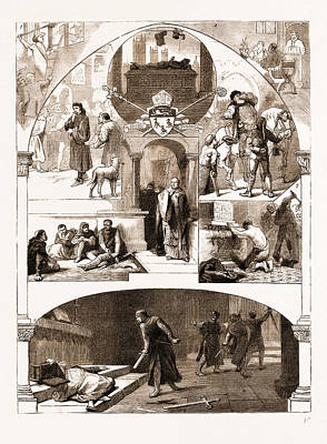 Primate Drawing - The Enthronisation Of The New Primate, Some Canterbury by Litz Collection