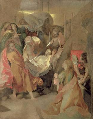 Biblical Painting - The Entombment Of Christ by Barocci