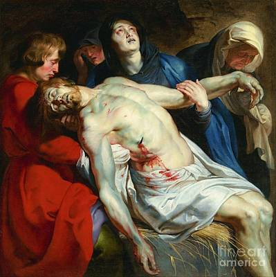 Painting - The Entombment by Pg Reproductions