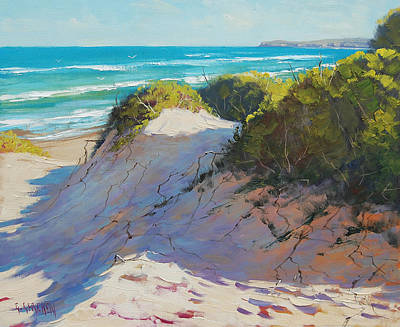 Beach Oil Painting - The Entrance Dunes by Graham Gercken
