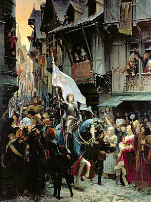 The Entrance Of Joan Of Arc Into Orleans Print by Jean-Jacques Scherrer