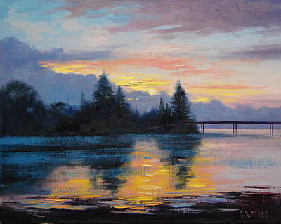 The Entrance Painting - The Entrance Sunset by Graham Gercken