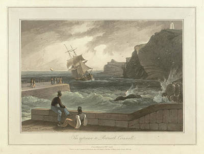 The Entrance To Portreath In Cornwall Art Print by British Library