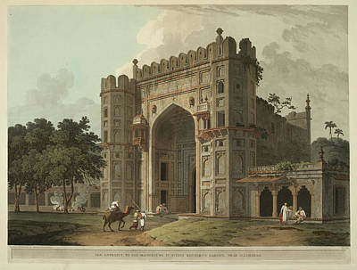 Camel Photograph - The Entrance To The Mausoleums by British Library