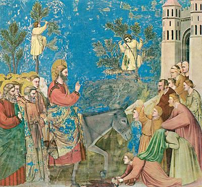 Jerusalem Painting - The Entry Into Jerusalem by Giotto